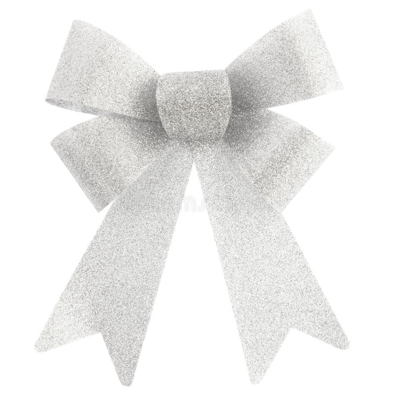 Silver bow stock image