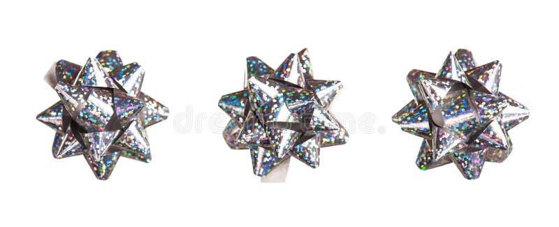 Download Silver Bows Made Of Shiny Ribbon Stock Image - Image: 28785037
