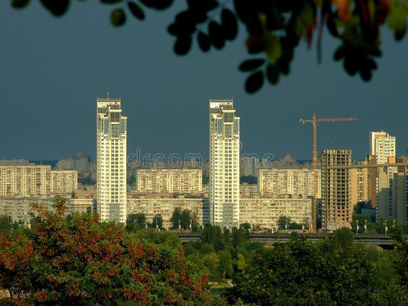 Silver breeze.Kiev stock photo