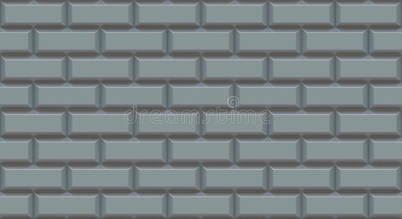 Silver brick wall rectangles with chamfered edge. Empty background. Vintage stonewall. Room design interior. stock photos
