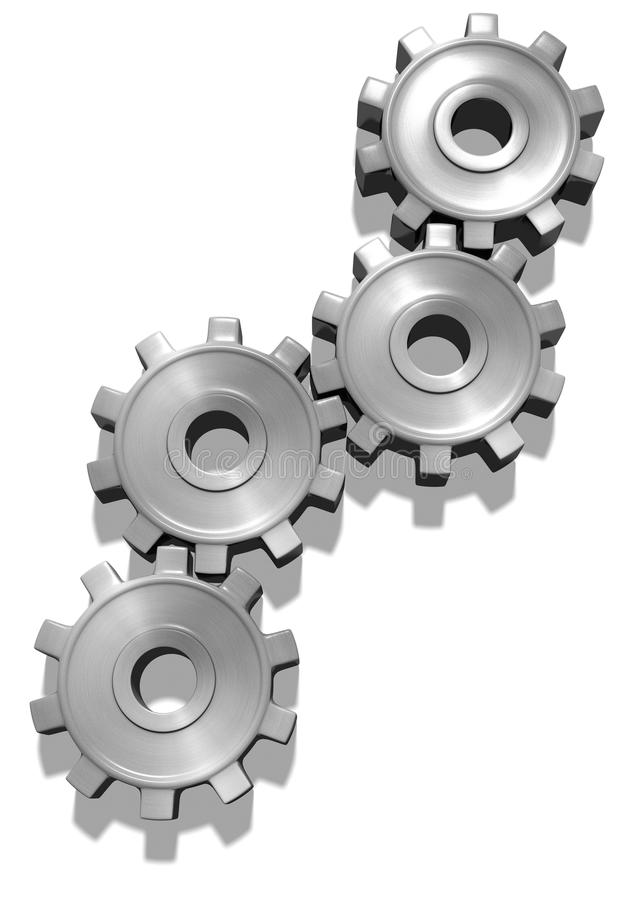 Download Silver brushed gears stock illustration. Illustration of gears - 26608586