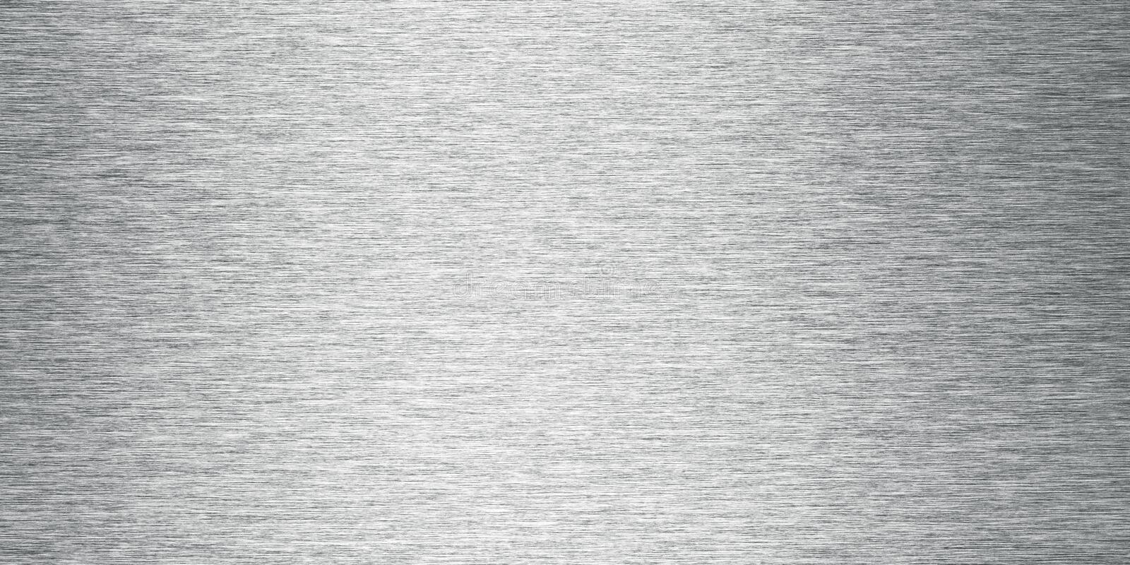 Silver Brushed Metal Background Banner stock image