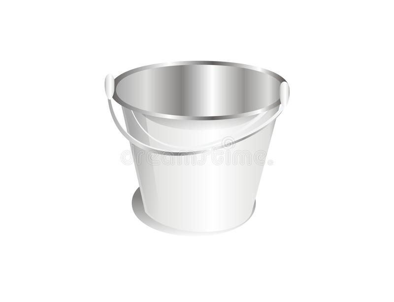 Download A silver bucket stock vector. Illustration of isolated - 22631251