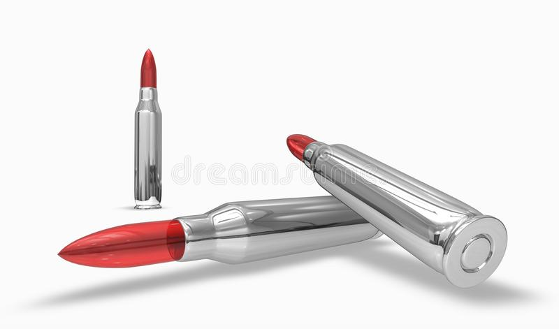 Download Silver Bullet With Red Head Stock Illustration - Image: 16139993