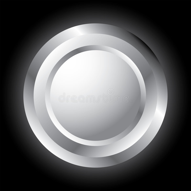 Silver button. royalty free stock images