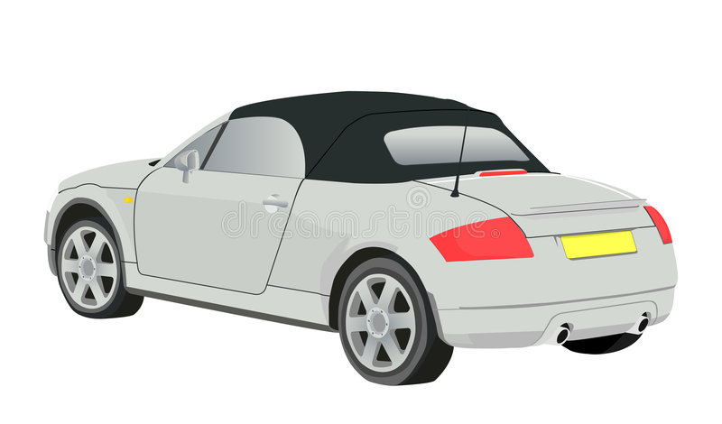 Download Silver car stock illustration. Image of auto, speed, plate - 506604