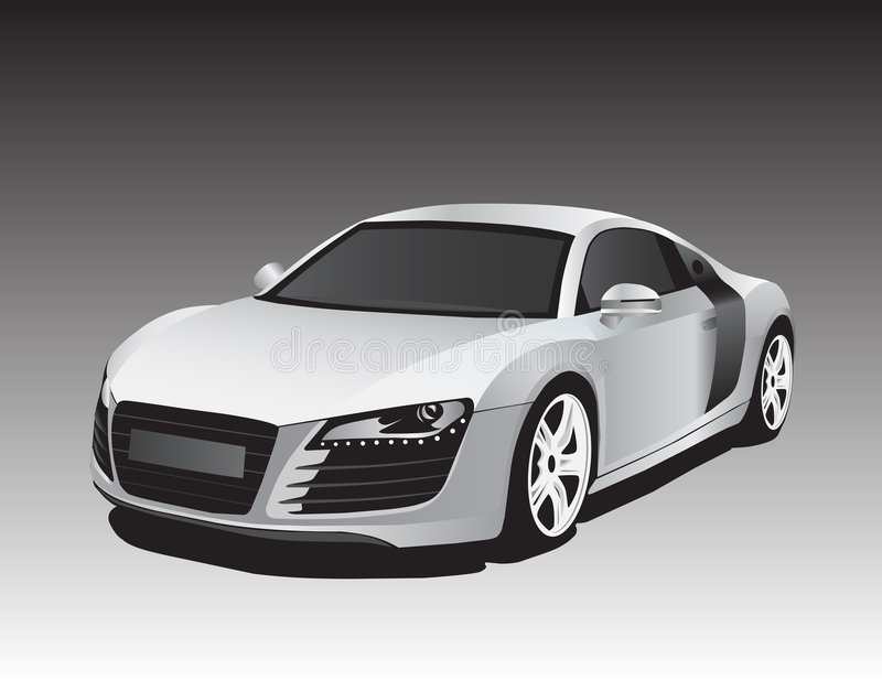 Silver car vector illustration