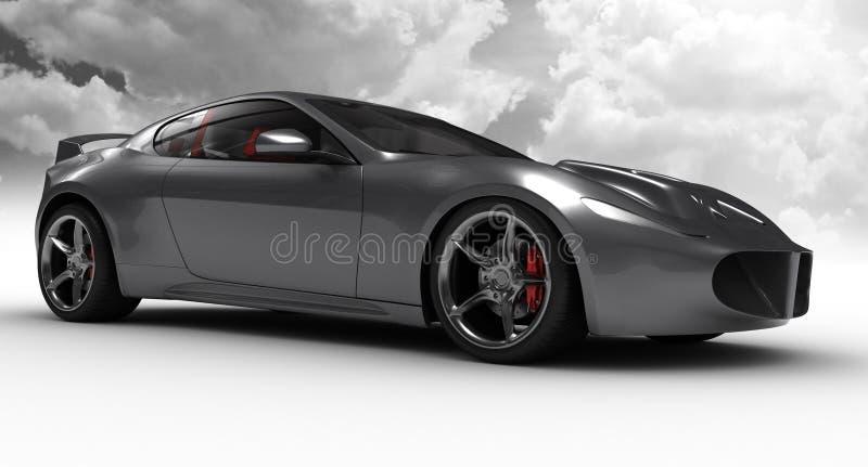 Silver car concept