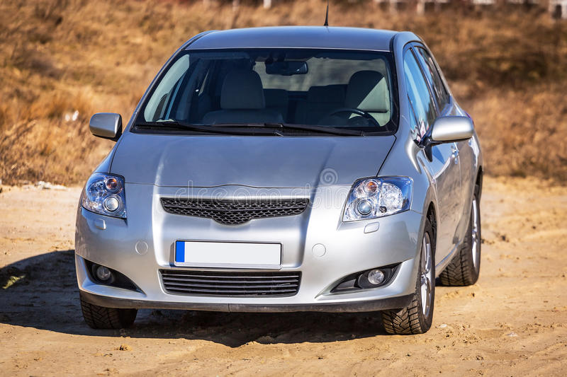 Download Silver Car On The Sunny Meadow Stock Photo - Image: 38975182