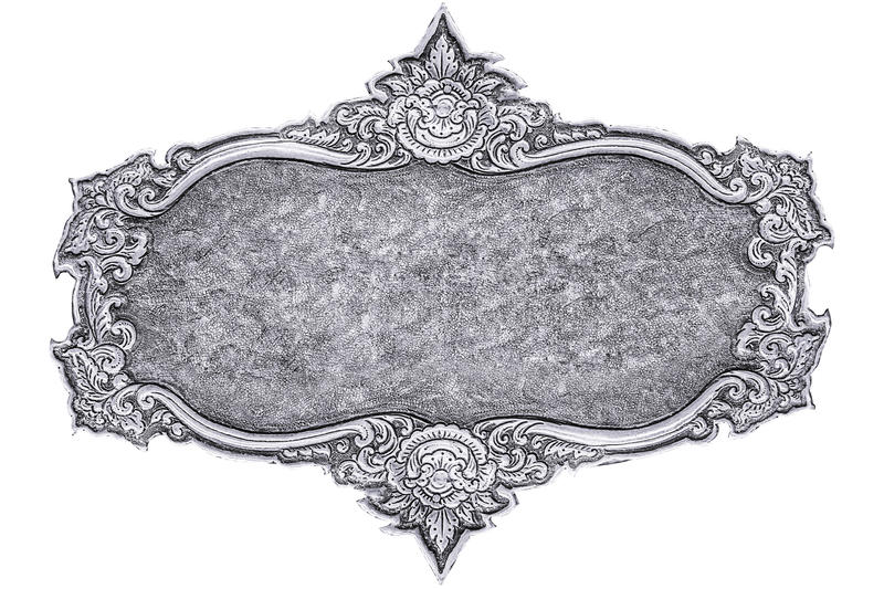 Silver carve. Silver carve isolated on white background royalty free stock image