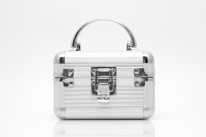Silver casket royalty free stock photography