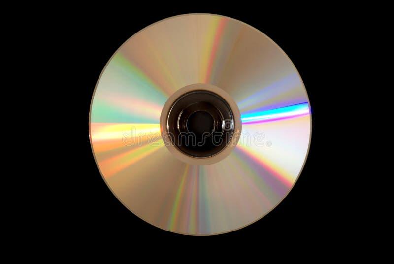 Silver CD disc stock photo