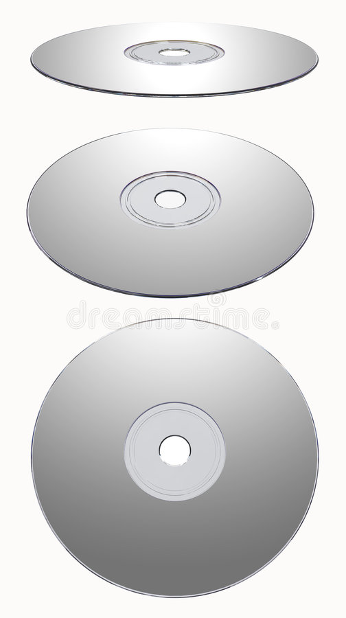 Download Silver CD-rom Isolated Stock Photos - Image: 7410623