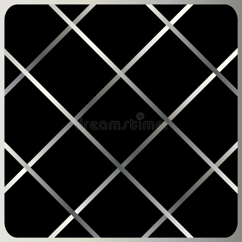 Silver cells abstract background vector. Silver cage on black background. For Design crafts, fabrics, decorating, web, print textures. Vector file with layers vector illustration