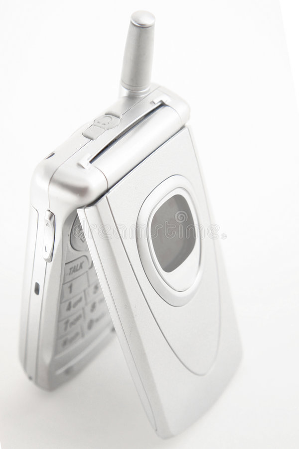 Silver Cellular phone royalty free stock photo