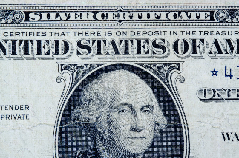 Download Silver Certificate stock photo. Image of george, silver - 8404364