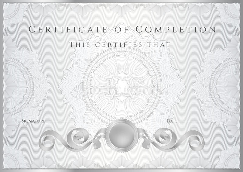 silver certificate    diploma background  template  stock