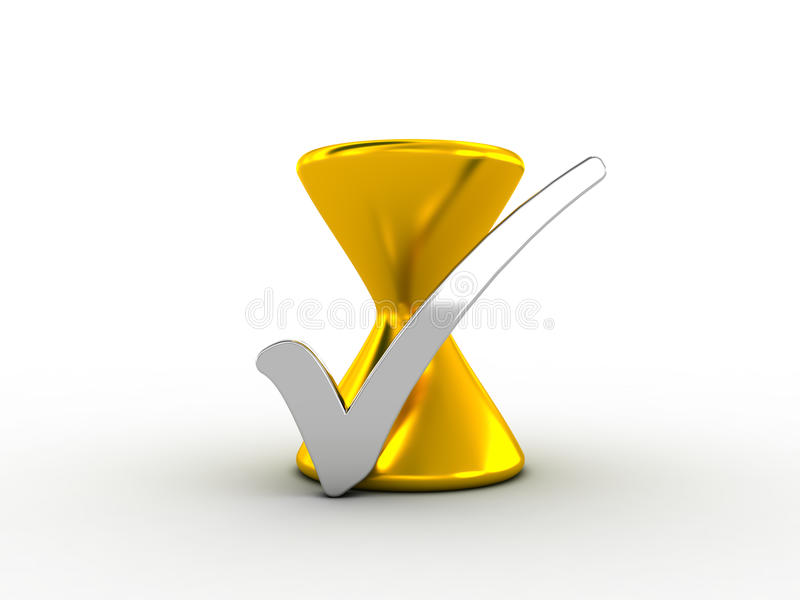 Download Silver Check Mark With Golden Hourglass Stock Illustration - Image: 30288558
