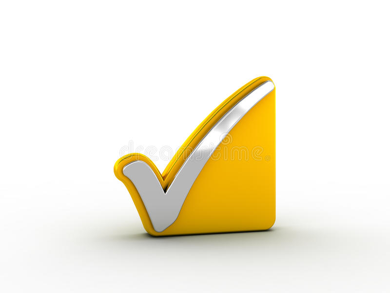 Download Silver Check Mark On Golden Plate Stock Illustration - Illustration: 30166673