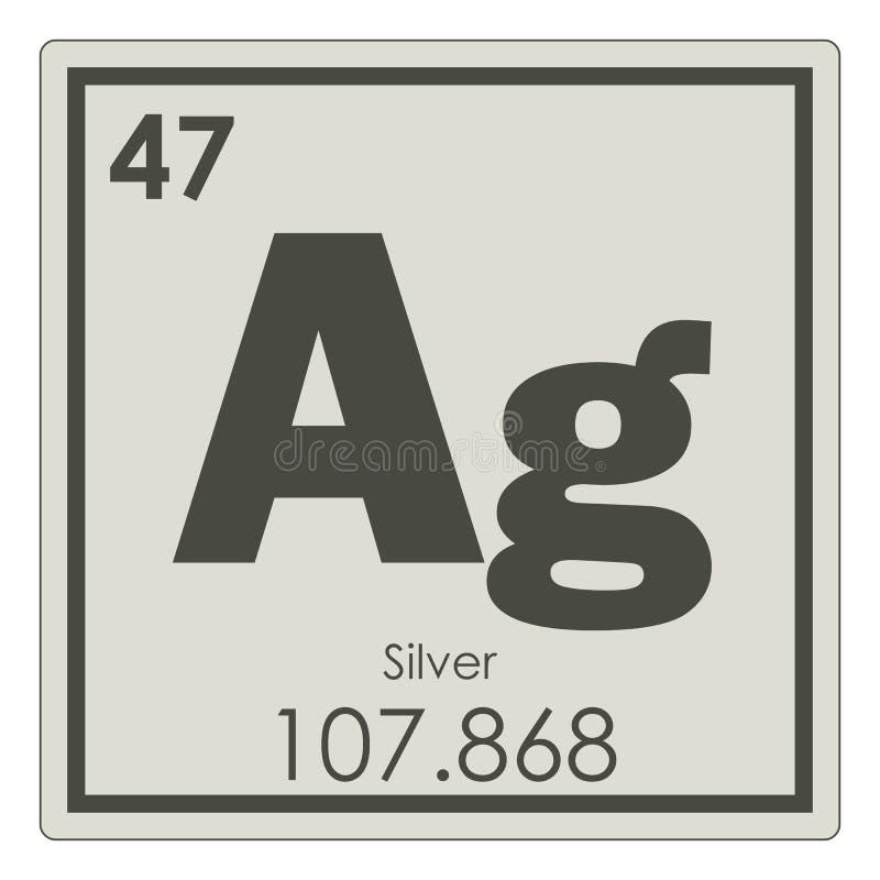 Silver Chemical Element Stock Illustration Illustration Of Color