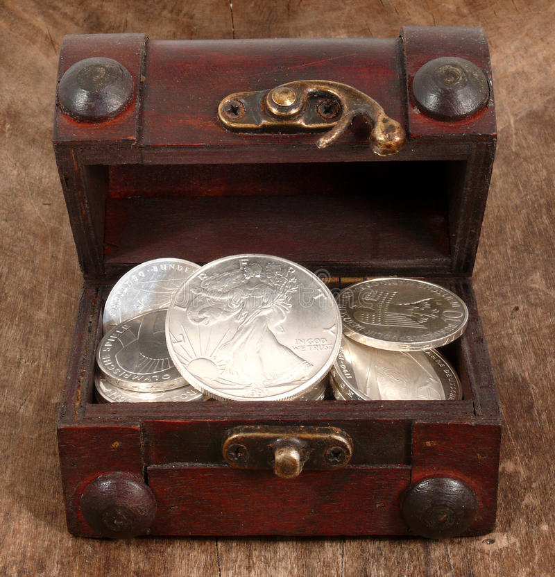 Silver Chest Stock Photo