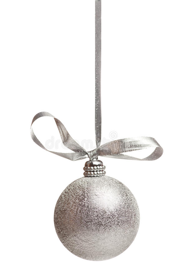 Download Silver chistmas decoration stock photo. Image of season - 16975550