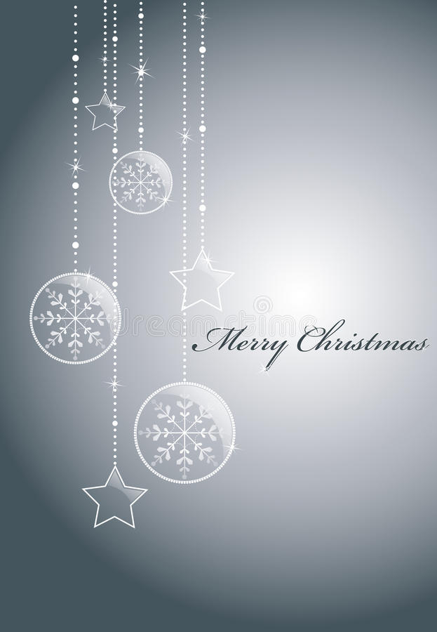 Silver christmas background royalty free illustration