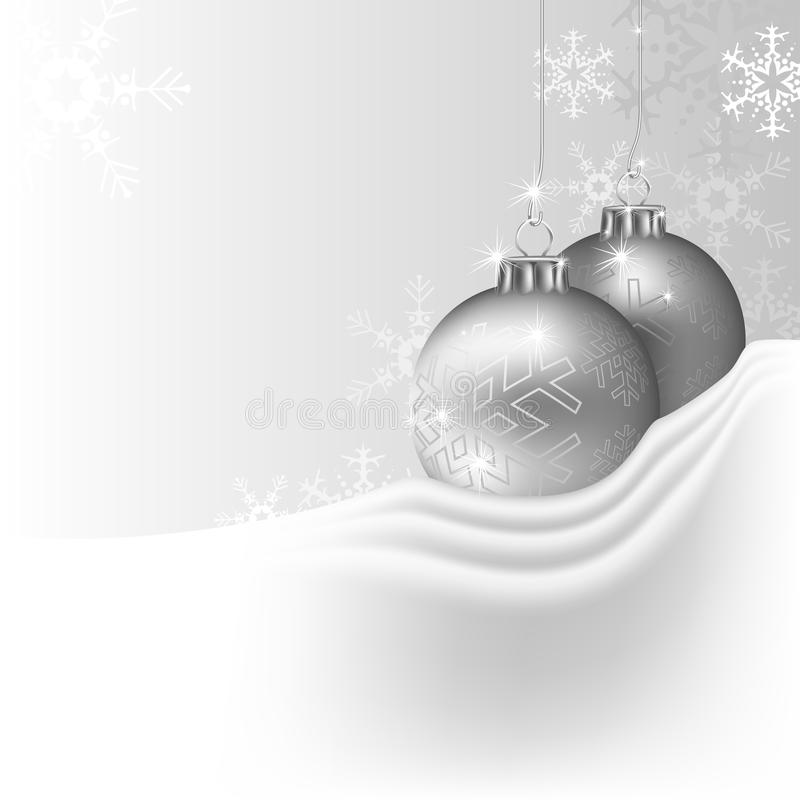Download Silver Christmas Background Stock Vector - Illustration of event, christmas: 16954677