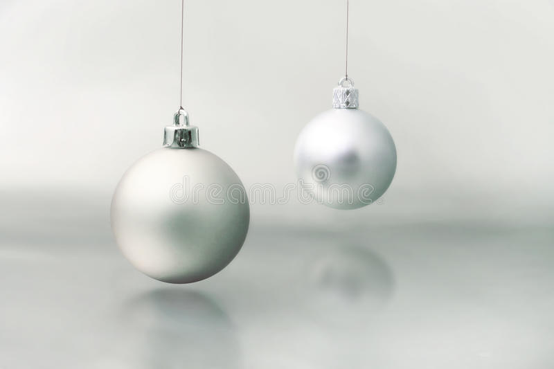 Silver christmas ball royalty free stock image
