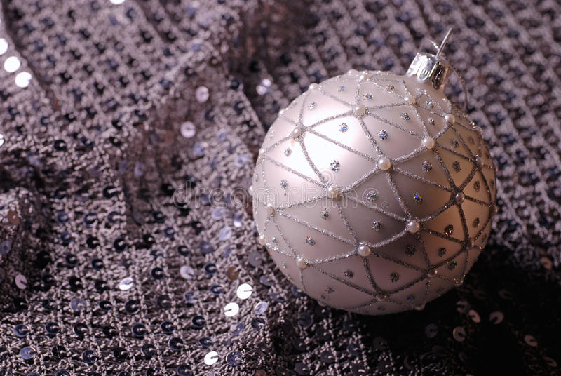 Silver Christmas Ball Stock Photos