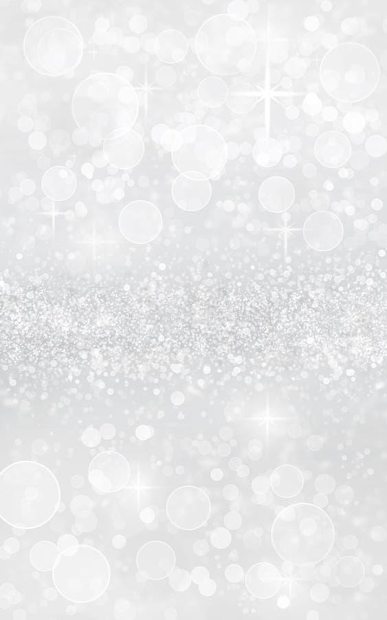 Free Silver Christmas Bokeh Sparkle Glitter Royalty Free Stock Photography - 160727777