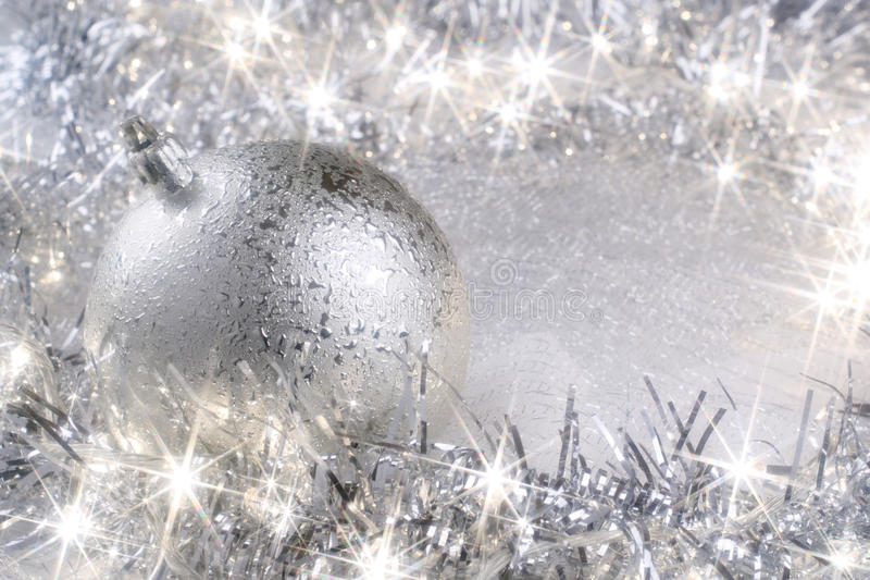 Download Silver Christmas card stock image. Image of bauble, silver - 25877807