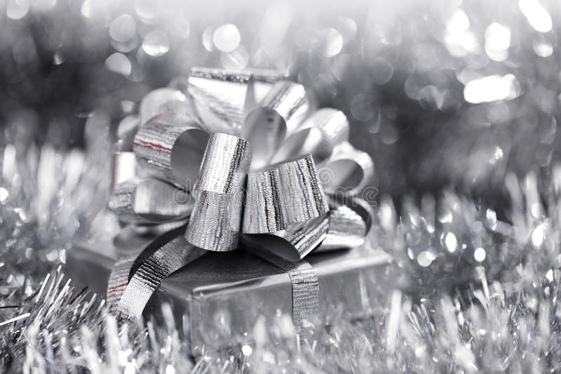 Download Silver christmas card stock photo. Image of holiday, decorative - 26919178