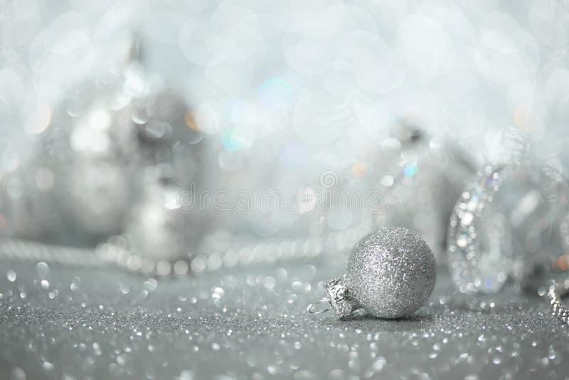 Download Silver Christmas Decorations Stock Image - Image of celebration, seasonal: 34667031