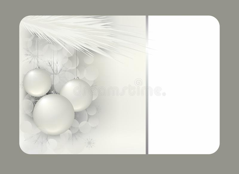 Silver christmas gift card royalty free illustration