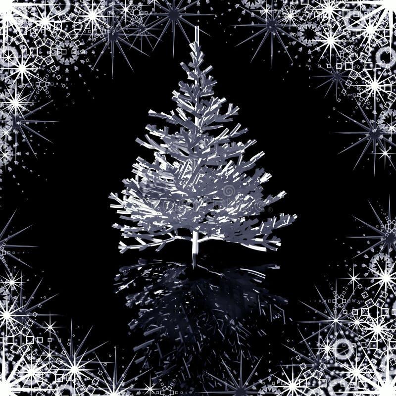 Silver Christmas-tree stock photo