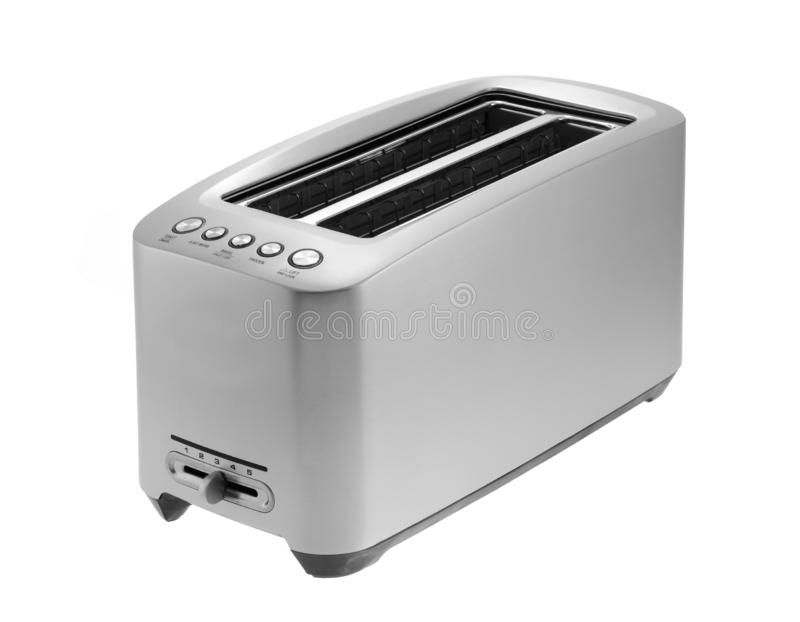 Silver chrome toaster isolated in white with clipping path stock photography