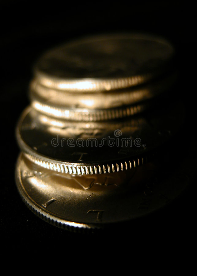 Download Silver coins stock image. Image of bank, dollars, gold, kennedy - 6889