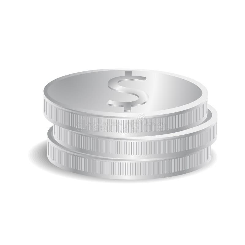 Download Silver coins stock vector. Illustration of illustration - 37271991