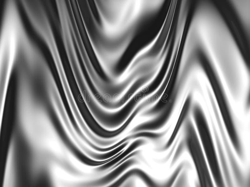 Silver color silk background. 3d illustration stock illustration