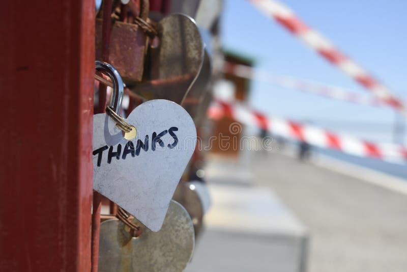 Silver-colored Heart Lock Bridge royalty free stock photos