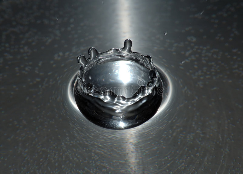 Download Silver crown stock image. Image of explode, water, drop - 62525