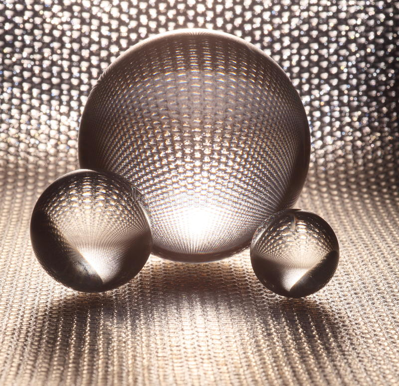 Silver crystal glass balls royalty free stock image