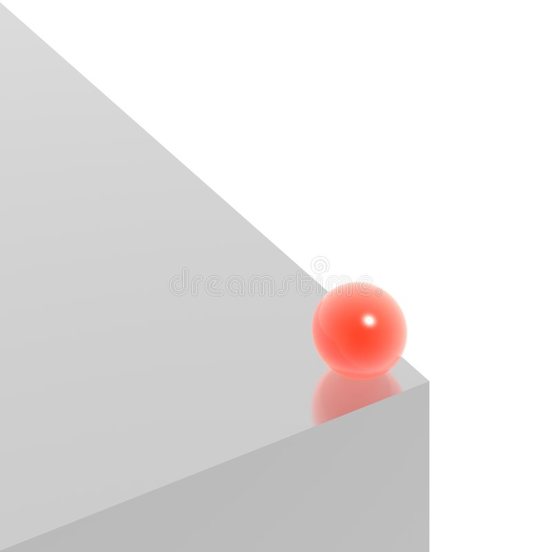 Download Silver cube and red sphere stock illustration. Image of shiny - 6770915