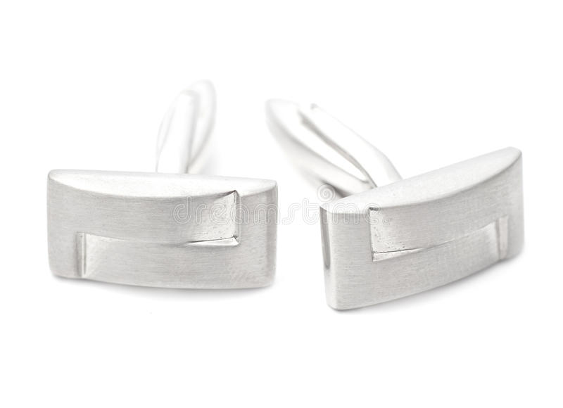Download Silver cuff links stock photo. Image of cuff, macro, pair - 21279224