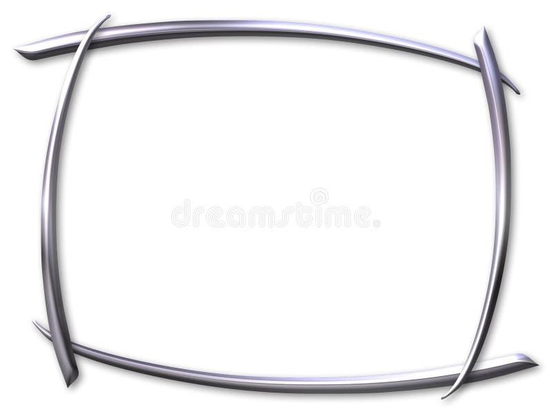 Silver curved frame vector illustration