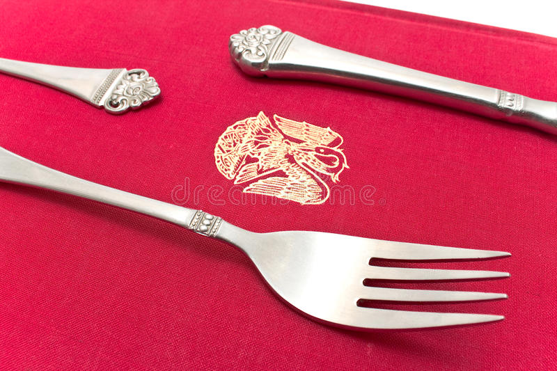 Silver Cutlery Set Stock Photo Image Of Sharp Dining
