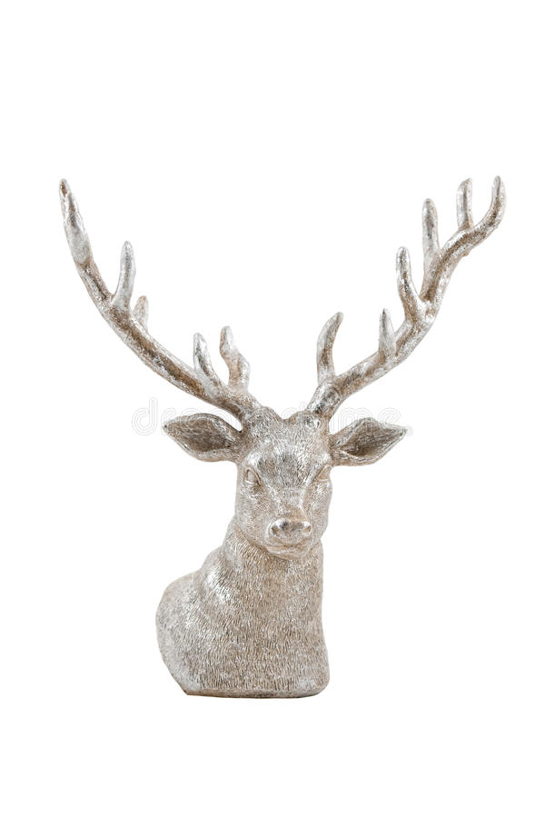 Silver deer stock image