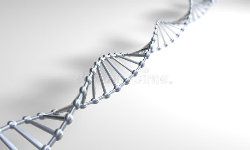 Silver DNA vector illustration