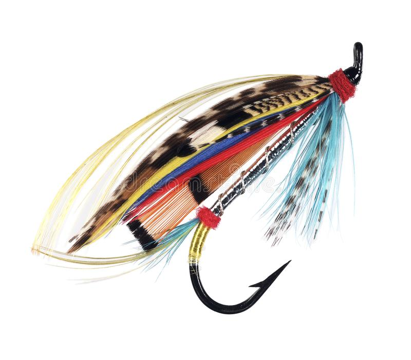 Silver Doctor fly fishing lure royalty free stock photo